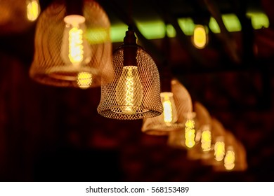 Lamps in a row