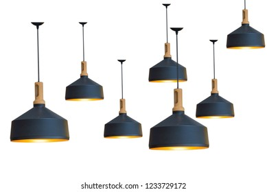 The lamps are separated from the background.