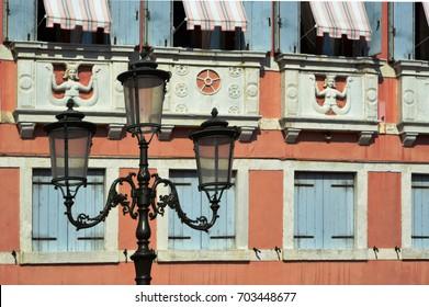 Lamps in Veneto streets, Italy