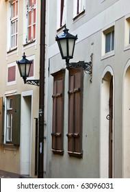 lamp-street in the narrow street
