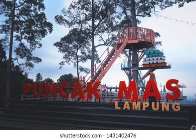 Lampung, Indonesia - July 2th 2017,  puncak mas is destination place in bandar lampung