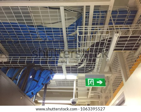 LAN Cable Wiring On Cable Rack Stock Photo (Edit Now) 1063395527 ...