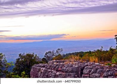 Lan Hin Pum a field of nodulated stone , Phu Hin Rong Kla National Park , Phitsanulok , Thailand