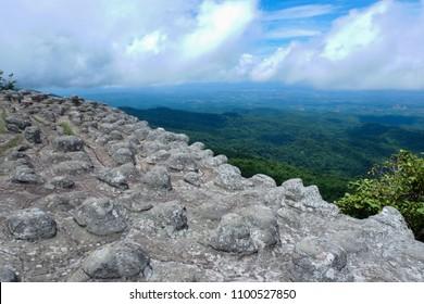 Lan Hin Pum[Nodule Rock Field], Phu Hin Rong Kla National Park, Thailand.