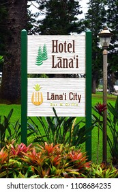 LANAI, HAWAII -31 MAR 2018- View of the Hotel Lanai, a historic hotel located in the former Dole Plantation in the center of Lanai City, HI.