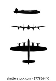 Lancaster Bomber silhouettes for composites