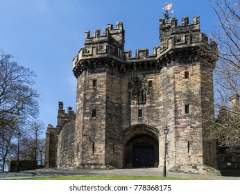Lancaster Castle is a medieval castle located in Lancaster in the English county of Lancashire. Its early history is unclear, but may have been founded in the 11th century on the site of a Roman fort.