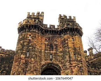 Lancaster Castle - medieval castle located in Lancaster, Castle Park, Lancashire, England