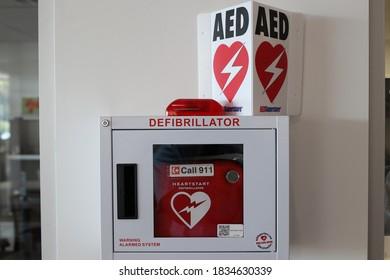 Lancaster Ohio October 14, 2020 AED Heart Defibrillator.