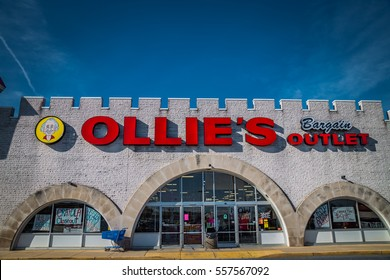 Lancaster, PA - January 15, 2017: Exterior of Ollie's Bargain Outlet Retail Location. Ollie's is a chain that sells a variety of Closeout Merchandise.