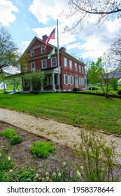 Lancaster, PA, USA - April 18, 2021: Edward Hand, adjutant general to George Washington during the American Revolutionary War built the Georgian-style brick mansion near the Conestoga River in 1794.