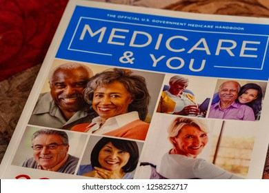 Lancaster, PA, USA - December 13, 2018:  A Medicare & You Book, provided by the US Government to assist older Americans to understand Medicare benefits.
