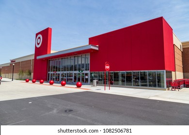 Lancaster, PA, USA - May 2, 2018: Target, an American retailer of consumer clothing, electronics, health, beauty, food, groceries and other general merchandise, new store in Lancaster.