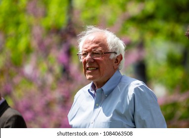 "Lancaster, PA, USA - May 5, 2018: US Senator Bernard ""Bernie"" Sanders from Vermont makes a campaign stop and for Jess King, Democrat congressional candidate."