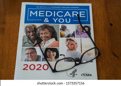 Lancaster, PA / USA - November 19, 2019:  The 2020 Medicare & You annual guidebook for Medicare recipients.