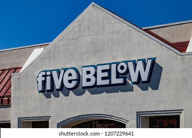 Lancaster, PA, USA - October 18, 2018:  Five Below is an American publicly held chain of discount stores with over 600 locations that sells products that cost up to $5.
