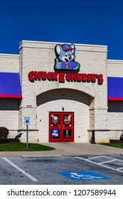 Lancaster, PA, USA - October 18, 2018:  Chuck E. Cheese's is a chain of American family entertainment centers and restaurants with over 600 locations.