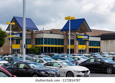 Lancaster, PA, USA - September 2, 2018: The largest used car dealership in the USA, CarMax operates superstores  in over 190 locations.