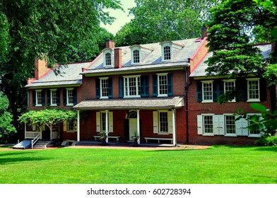 Lancaster, Pennsylvania - June 8, 2015:   Federal-style historic Wheatland mansion, home of James Buchanan. the 15th President of the United States *