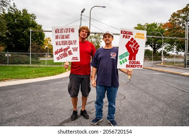 Lancaster, Pennsylvania, United States. October 11, 2021: 1400 Kellogg's workers are on strike across the country.