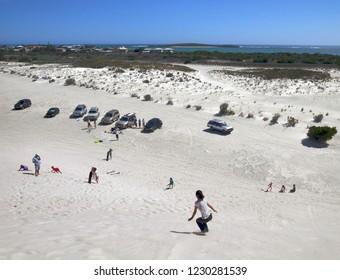 Lancelin Dunes sandboarding, sand hills, Perth, Western Australia