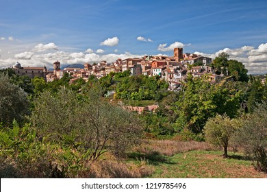 Lanciano, Chieti, Abruzzo, Italy: landscape of the ancient town surrounded by green countryside