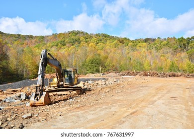 land cleared and trees destroyed by machinery