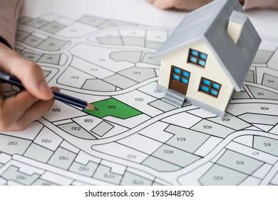 Land Development Map. Developer With Project Plot - Shutterstock ID 1935448705