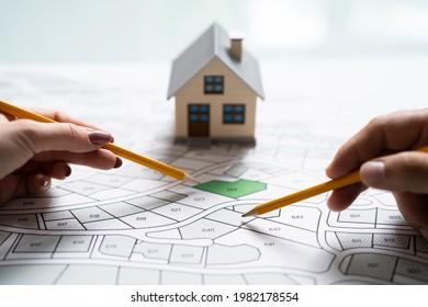 Land Development Map. Developer With Project Plot - Shutterstock ID 1982178554