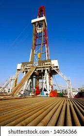 A land drilling rig in Shengli Oil Plant,CHN