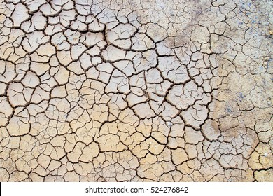 Land with dry and cracked ground,cracks in the ground background