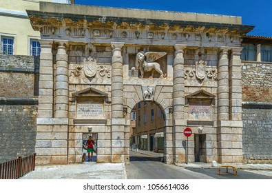 Land Gate - then the main entrance into the city, built by a Venetian architect Michele Sanmicheli in 1543, Zadar, Croatia