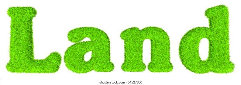 Land - High resolution grass text