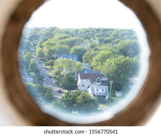 Land Ho! Looking through the Porthole Window at the Cape May Lighthouse.