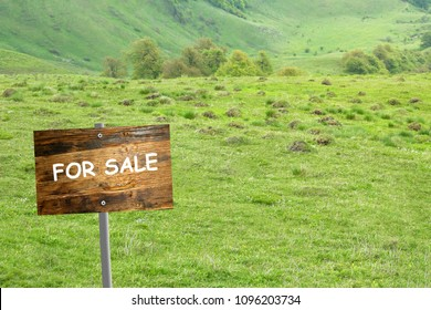 land for sale concept,land for sale wooden sign board