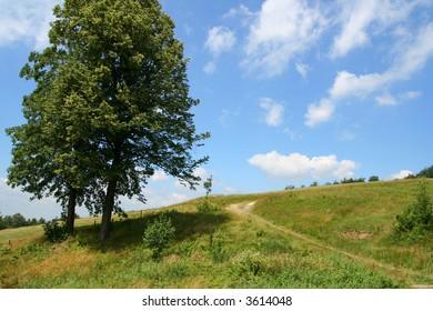 land scape Poland  range of mountains Beskidy