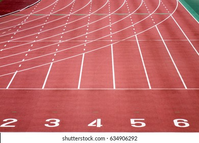 Land track start line