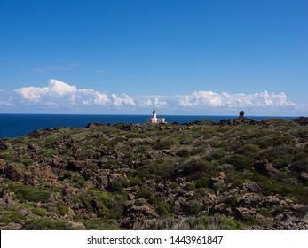 Landascape of beautiful Pantelleria island, Punta Spadillo