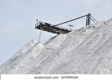 Landfill of potash mining