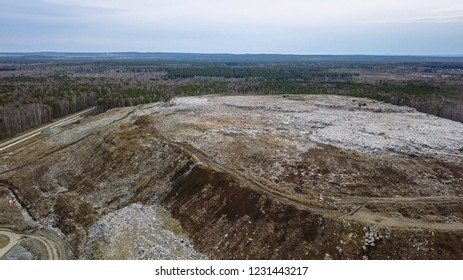 Landfill in the vicinity of the city of Ekaterinburg, Russia, From Drone