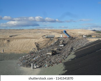 Landfill waste in operation