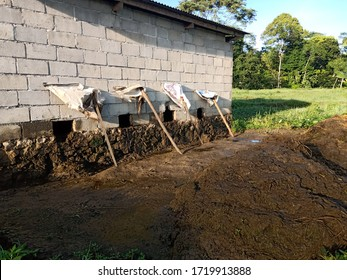 landfills for cattle dung from cages