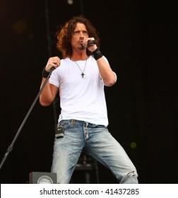 LANDGRAAF - MAY 30: Chris Cornell performs at Pinkpop on May 30, 2009 in Landgraaf, Netherlands