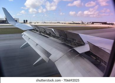 Landing flaps up