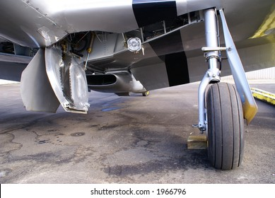 Landing gear assembly of the North American P-51 Mustang fighter of WW II fame