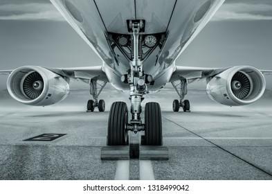 landing gear of an modern aircraft