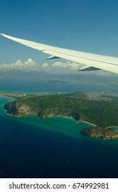 Landing on Mayotte island, France