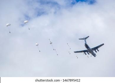 Landing of Russian airborne troops