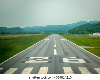 Landing in a small runway in Georgia, USA