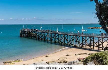 Landing stage of la plage des Dames (Noirmoutier, France)